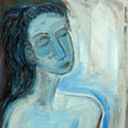 Blue Lady Abstract Art Print