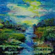 Blue Landscape. Art Print