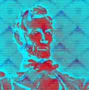 Blue Lincoln Art Print