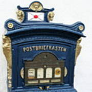 Blue Mailbox Art Print