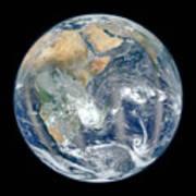 Blue Marble 2012 - Eastern Hemisphere Of Earth Art Print