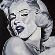 Blue Marilyn  Art Print