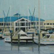 Blue Marina Art Print