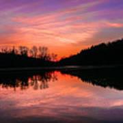 Blue Marsh Lake Sunset Art Print
