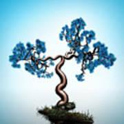 Blue Math  Tree Art Print