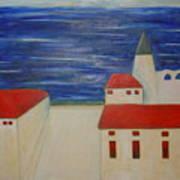 Blue Med Art Print