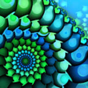 Blue Meets Green Art Print