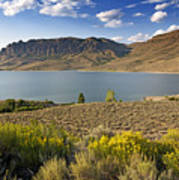 Blue Mesa Lake In Gunnison County Colorado Art Print