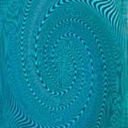 Blue Metal Spca Art Print