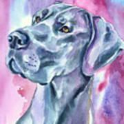 Blue Mood - Great Dane Art Print