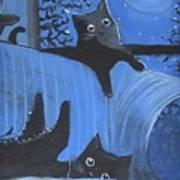 Blue Moon Halloween Art Print
