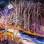 Blue Moon Night Art Print