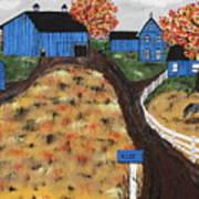 Blue Mountain Farm Art Print
