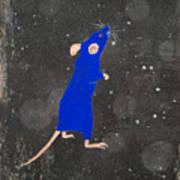 Blue Mouse Art Print