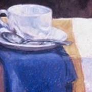 Blue Napkin Art Print
