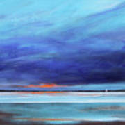 Blue Night Sail Art Print by Toni Grote