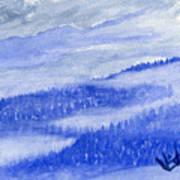 Blue Noon In Western Montana Art Print
