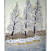 Blue Paddle Boats Art Print