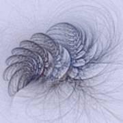 Blue Pagliai Ferns Art Print