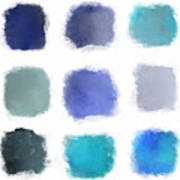 Blue Palette, No.1 Art Print