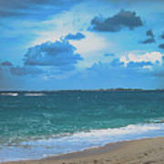 Blue Paradise, Scenic Ocean View From The Bahamas Art Print