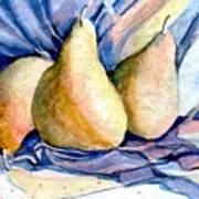 Blue Pears Art Print