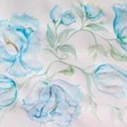 Blue Peonies Art Print