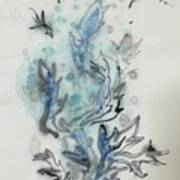 Blue Plant Of Dream Art Print