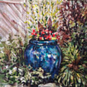 Blue Planter Art Print