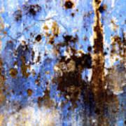 Blue Plaster 2 By Darian Day Art Print