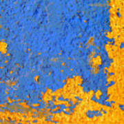 Blue Plaster 3 By Darian Day Art Print