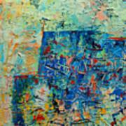 Blue Play 1 Art Print