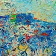 Blue Play 4 Art Print