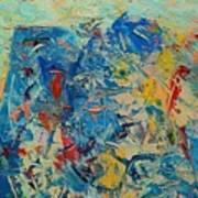 Blue Play 5 Art Print