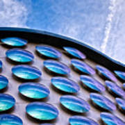 Blue Polka-dot Wave Art Print