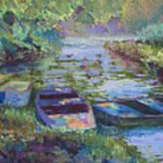 Blue Pond Art Print