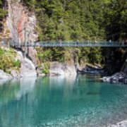 Blue Pools New Zealand Art Print