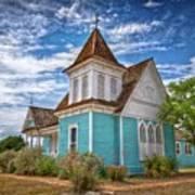 Blue Prairie Church Art Print
