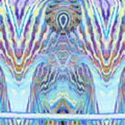 Blue Praise Art Print