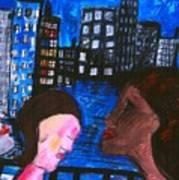 Blue Promenade Art Print