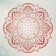 Blue Red Mandala Art Print