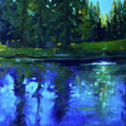 Blue Reflection Art Print