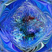 Blue Reflextions Art Print