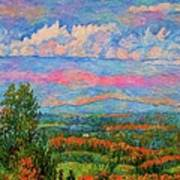 Blue Ridge Cloud Burst Art Print