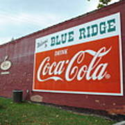 Blue Ridge Coke Art Print