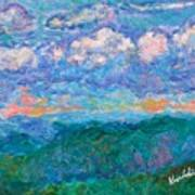 Blue Ridge Magic From Sharp Top Stage One Art Print