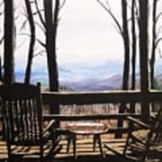 Blue Ridge Mountain Porch View Art Print