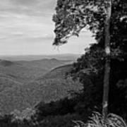 Blue Ridge Mountains - Virginia Bw 10 Art Print