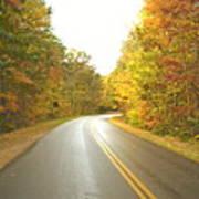 Blue Ridge Parkway In Fall Art Print