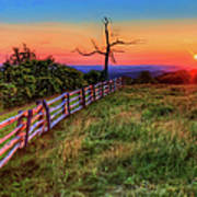 Blue Ridge Sunrise At Doughton II Art Print
